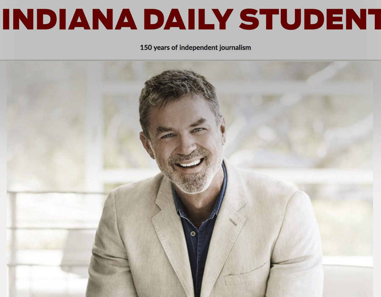 Chris Gernon featured in Indiana Daily Student, and his upcoming TedxTalk at the Indaiana University.